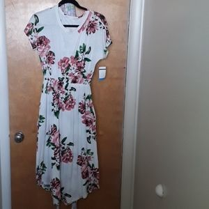 Floral Spring/Summer Midi Dress with Pockets